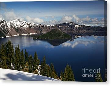 Crater Lake - Oregon Canvas Print by Yefim Bam