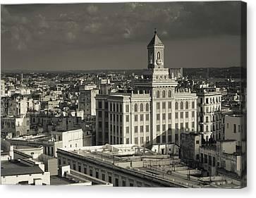 Cuba, Havana, Elevated View Canvas Print by Walter Bibikow
