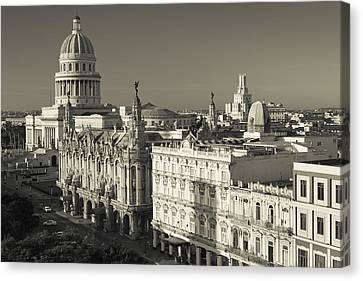Cuba, Havana, Havana Vieja Canvas Print by Walter Bibikow