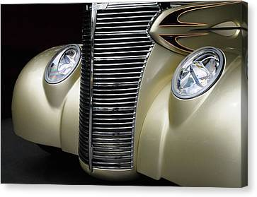 Canvas Print featuring the photograph Custom Car Detail by Dave Mills