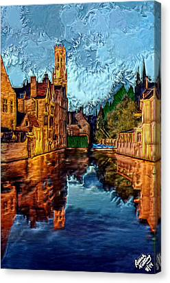 3-d River Road Canvas Print by Bruce Nutting