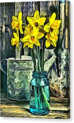 Daffodils Canvas Print by Edward Fielding