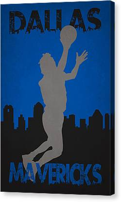 Maverick Canvas Print - Dallas Mavericks by Joe Hamilton