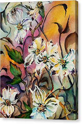 Dance Of The Dogwoods Canvas Print by Lil Taylor