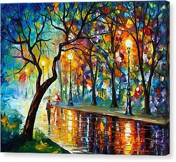 Dark Night Canvas Print by Leonid Afremov
