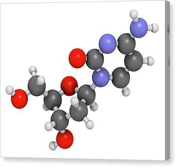Deoxycytidine Nucleoside Molecule Canvas Print by Molekuul