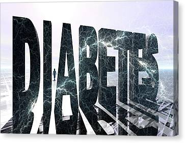 Lightning D Canvas Print - Diabetes by Carol & Mike Werner
