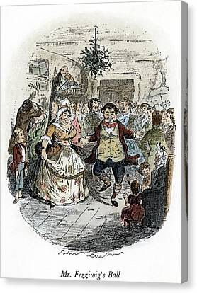 Dickens Christmas Carol, 1843 Canvas Print by Granger