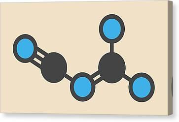 Dicyandiamide Molecule Canvas Print by Molekuul