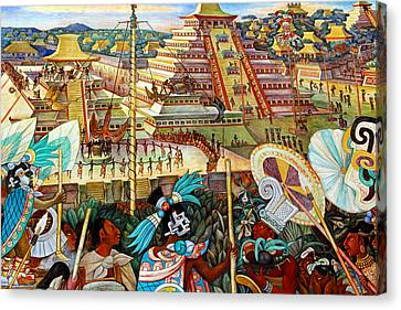 Diego Rivera Mural Mexico City Canvas Print