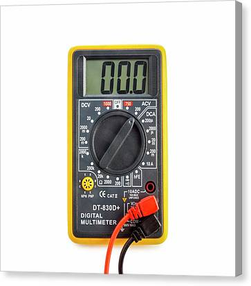 Digital Multimeter Canvas Print by Science Photo Library
