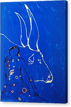 Dinka Dance Canvas Print - Dinka Livelihood - South Sudan by Gloria Ssali