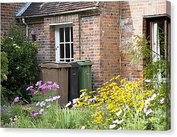 Domestic Waste Collection Bins Canvas Print