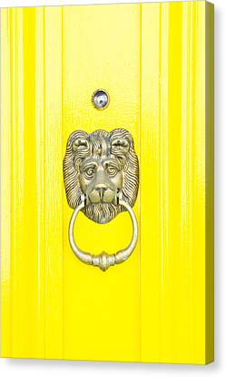 Yellow Building Canvas Print - Door Knocker by Tom Gowanlock