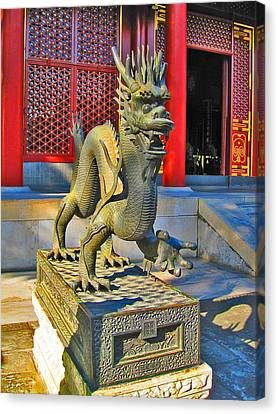 Dragon. Made In China. Beijing. Secret City. Canvas Print by Andy Za