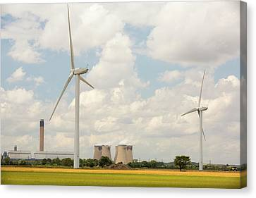 Drax Power Station In Yorkshire Canvas Print