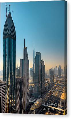 Dubai Skyline Canvas Print by Fototrav Print
