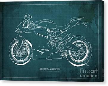Ducati 899 Custom For Bianca Canvas Print