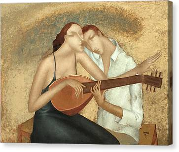 Duet Canvas Print by Nicolay  Reznichenko