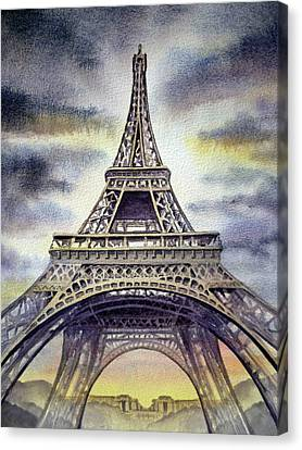 The Eiffel Tower Canvas Print - Eiffel Tower  by Irina Sztukowski