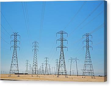 Transmission Canvas Print - Electricity Pylons by Jim West