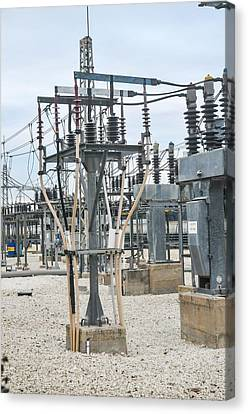 Electricity Transformation Substation Canvas Print by Photostock-israel