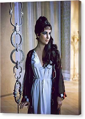 Elizabeth Taylor In Cleopatra  Canvas Print by Silver Screen