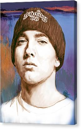 Eminem - Stylised Drawing Art Poster Canvas Print