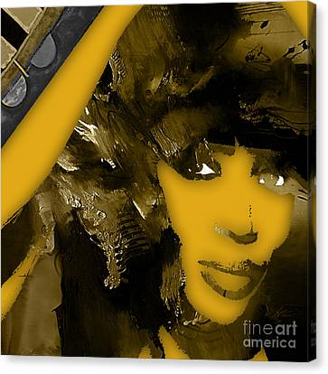 Pop Canvas Print - Empires Naomi Campbell Camilla by Marvin Blaine