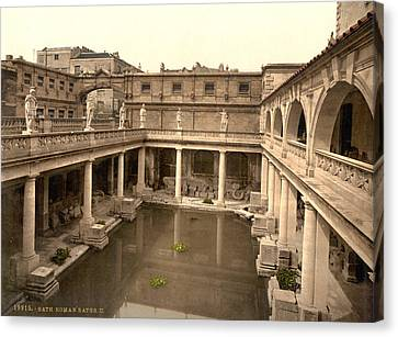 England Roman Baths Canvas Print