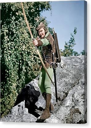 Errol Flynn In The Adventures Of Robin Hood  Canvas Print by Silver Screen