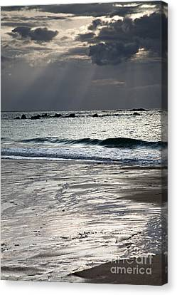 Armor Canvas Print - Evening At The Sea by Nailia Schwarz