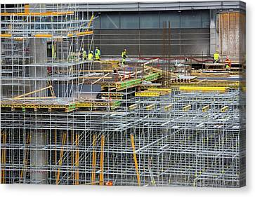 Oslo Canvas Print - Expansion Work At Oslo Airport In Norway by Ashley Cooper