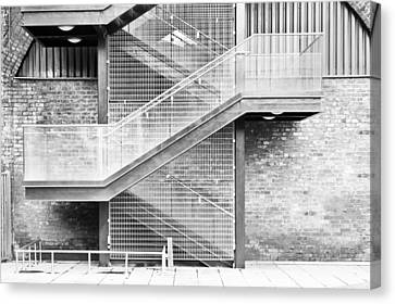 Fire Escape Canvas Print - Exterior Stairs by Tom Gowanlock