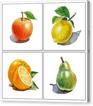 Lemon Canvas Print - Farmers Market Delight  by Irina Sztukowski