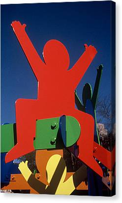 Fathers And Sons Canvas Print by Peter Michel