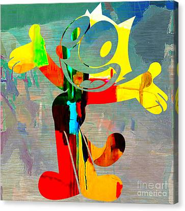 Cats Canvas Print - Felix The Cat. by Marvin Blaine