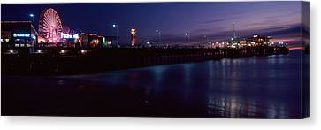 Ferris Wheel In An Amusement Park Canvas Print by Panoramic Images