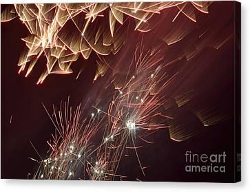 Fireworks On Bastille Day Canvas Print by Sami Sarkis