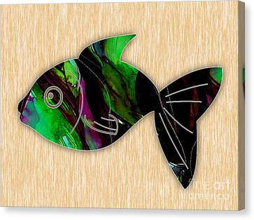 Fish Painting Canvas Print