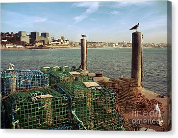 Fishing Traps Canvas Print