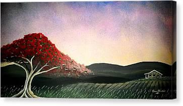 Flamboyan Canvas Print by Edwin Alverio