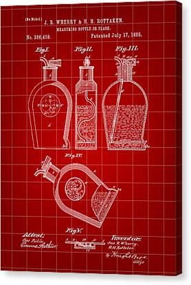 Flask Patent 1888 - Red Canvas Print