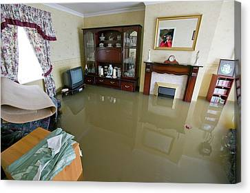 Toll House Canvas Print - Flooding In Toll Bar by Ashley Cooper