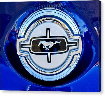 Ford Mustang Emblem Canvas Print by Jill Reger