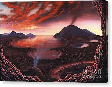 Formation Of The Earth, Artwork Canvas Print by Richard Bizley