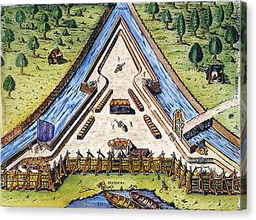 Fort Caroline, 1564 Canvas Print by Granger