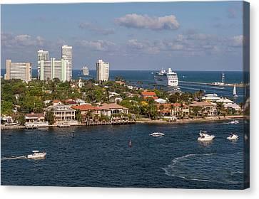 Fort Lauderdale, Port Everglades Canvas Print by Lisa S. Engelbrecht