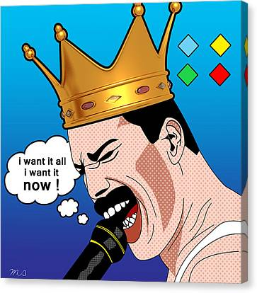 Character Portraits Canvas Print - Freddie Mercury by Mark Ashkenazi