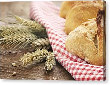 Fresh Bread Canvas Print by Mythja  Photography